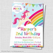 unicorn birthday invitation wording unicorn party invitation katarina s paperie