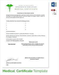 Sample Medical Certificate Download Documents Word Fake Doctors Note