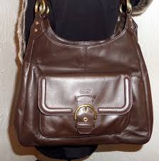 COACH F24686 CAMPBELL BROWN LEATHER 3 COMPARTMENT HOBO BAG HANDBAG PURSE  MINT  Coach  Hobo