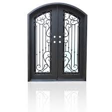front door doubleWrought Iron Entry Front Doors Double Half Arch Top 61 x 81 65