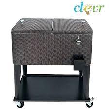 outdoor patio cooler outdoor cooler cart rolling ice chest qt outdoor patio rolling ice chest cooler outdoor patio cooler