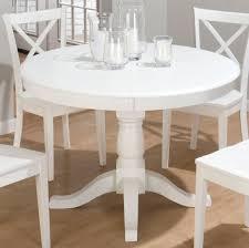 50 white round chair beautiful white round kitchen table and chairs homesfeed simplyhaikujournal com