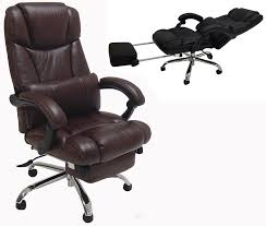 office reclining chairs. leather reclining office chair w footrest chairs o