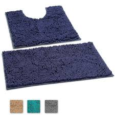 2 piece bath mat set extra soft plush non slip bath shower bathroom rugs floor