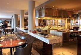 restaurant open kitchen. Open Kitchen Design For Luxury Restaurant With Recessed Light And Modern Flooring Ideas