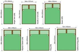 king size bed dimensions metric