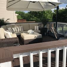 behr porch and patio floor paint colors awesome behr padre brown deck paint with ultra white railings photograph