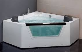 5 corner luxury clear whirlpool hot tub heater stereo am156
