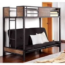 industrial loft furniture. furniture of america markain industrial metal loft bed with futon base