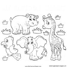 cute animals clipart black and white. Simple White View Original Size And Cute Animals Clipart Black White