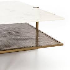 Penny coffee table living room square. Olivia Square Coffee Table In Polished White Marble Burke Decor