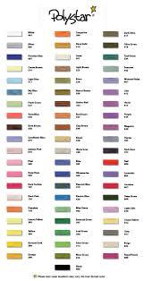 Polystar 61 Count Of Embroidery Thread Thread Chart
