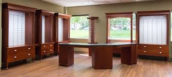 Optical Office Design Ideas Optical Office Interior Design In A Cherry Stain Office