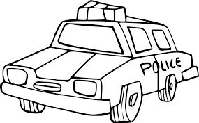 Coloriage Voiture De Police Imprimer