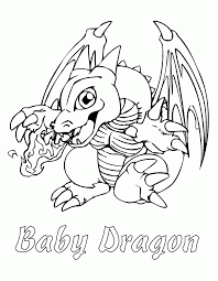 Small Picture Baby Dragon Character On Yugioh Anime Character Coloring Pages