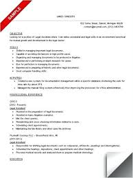 Paralegal Resume Skills Stunning Resume Examples For Secretary Work As Well As Legal Assistant Resume