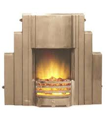 new art deco skyser style stepped cast iron fire surround