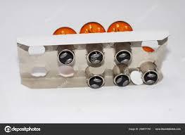 Oranje Lampje Voor Auto Witte Achtergrond Stockfoto Lord2017