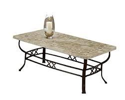 stone coffee table. Hillsdale 4815OTC Brookside Fossil Stone Coffee Table, Brown Powder Coat Table N