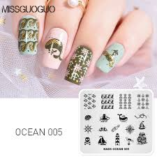 Diy Nail Designs Us 2 49 50 Off Missguoguo Nail Stamping Plates Template Whale Fish Boat Patterns Diy Nail Designs Stamping Polish Manicure Stamper Plate In Nail Art
