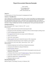 Payroll Resume Specialist Accountant Example Australia Samples India