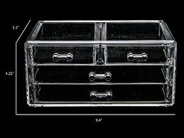 acrylic makeup cosmetic clear case jewelry 2 piece