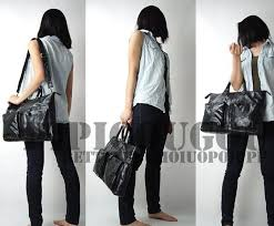 funky leather handbags fashionable briefcases for women black funky leather handbag