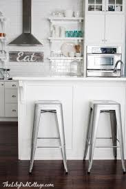 Kitchen Island With Bar Top White Kitchen Metal Bar Stools