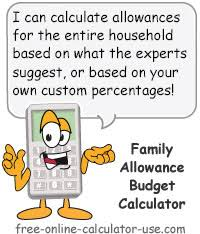 online family budget family allowance budget calculator household profit sharing