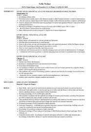 Financial Analyst Resume Entry Level Sample Stunning Templates