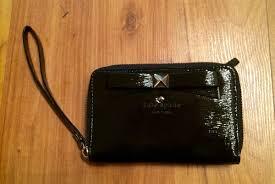 bolsa cartera kate spade negra patent leather piel original cargando zoom