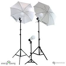 3 point photo continuous umbrella lighting kit led