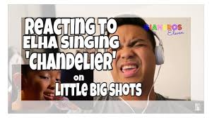 reacting to elha nympha singing to sia s chandelier on little big shots