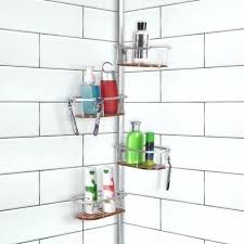 rustproof corner tension shower teak shelves rust resistant caddy proof