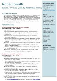 Software Qa Manager Resumes Quality Assurance Manager Resume Samples Qwikresume