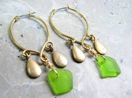 gold sea glass chandelier earrings images of