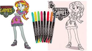 Small Picture Coloring Pages My Little Pony Equestria Girl MLP Friendship Games