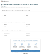 quiz worksheet the american scholar by ralph waldo emerson print the american scholar by ralph waldo emerson summary analysis worksheet