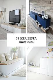 33 Ways To Use Ikea Besta Units In Home Décor Decor Ikea