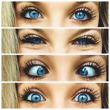 cute makeup for a with blue eyes