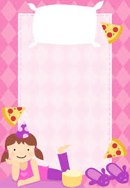 sleepover template free printable sleepover party invitation customizable too