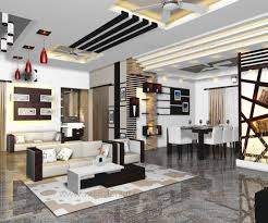 Model Living Room Design Interior Model Living And Dining From Kerala Model Home Plans