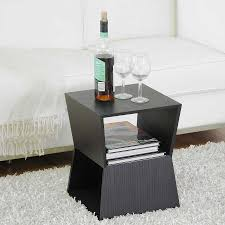 black modern end tables baxton studio marche black wood modern