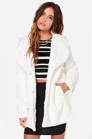 mink pink cloud nine coat ivory coat faux fur coat oversized jacket 117 00