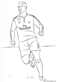 Cristiano Ronaldo Soccer Coloring Pages Printable