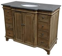 46 handcrafted reclaimed pine solid wood single bath vanity natural pine finish