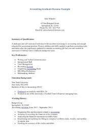 Sample Resume For Accounting Student Sample Resume Fresh Graduate Accounting Student Valid Resume For 2