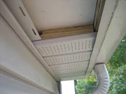 installing outdoor flood lights under eaves