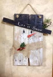 snowman repurposed primitive pallet wood snowman door hanging or wall sign let it snow winter on primitive christmas wall art with 139 best navidad 2015 images on pinterest christmas crafts