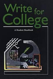 write for college a student handbook abebooks 9780669000443 write for college a student handbook